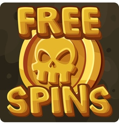 Symbol 12 Free spins vector image