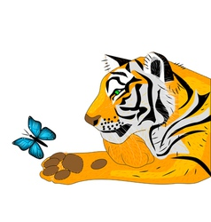 Tiger releases for free butterfly vector
