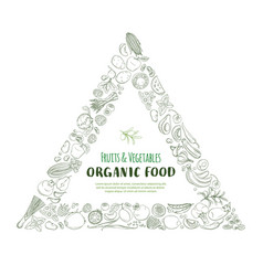 triangle frame border pattern organic farm fresh vector image