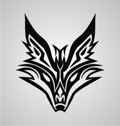 Tribal Fox Face vector