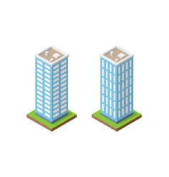 two isometric towers vector image