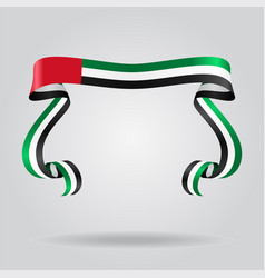 united arab emirates flag wavy ribon background vector image