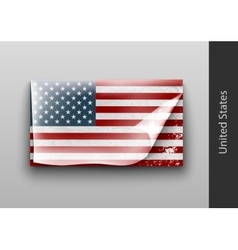 US flag with the tattered masking vector