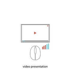Video preesentation vector image