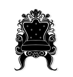 vintage armchair black silhouette french luxury vector image