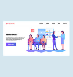Web site gradient design template human vector