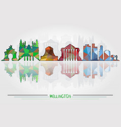 Wellington city background vector