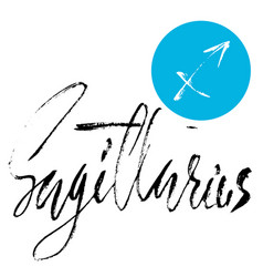 Zodiac sign of sagittarius astrology vector