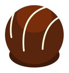 chocolate candy icon isolated vector image