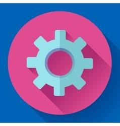 Cogwheel Icon Develop symbol Flat design style vector image