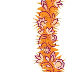 Seamless floral pattern vertical Border vector image