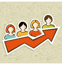 Web marketing campaign success concept vector image vector image