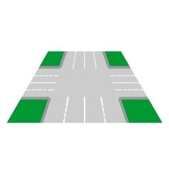Crossroads perspective view vector image vector image