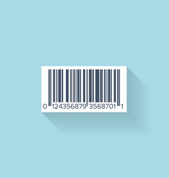 Flat web icon Barcode vector image