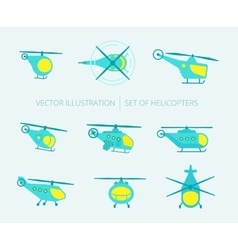 Nice set of helicopters for your design vector image vector image