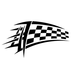 Racing tribal tattoo vector image vector image