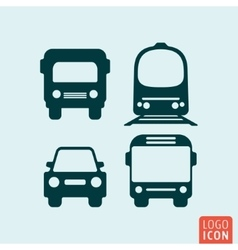 Transport icon isolated vector image vector image