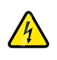 Bright high voltage icon with shadow isolated on vector image vector image