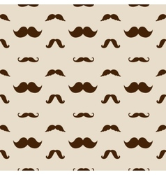 Hipster Mustaches Seamless Pattern vector image