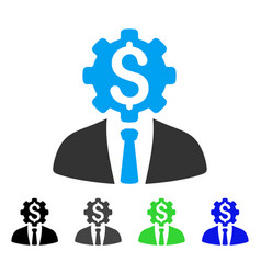 office dollar gear worker flat icon vector image