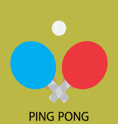 Ping pong sport icon flat vector image