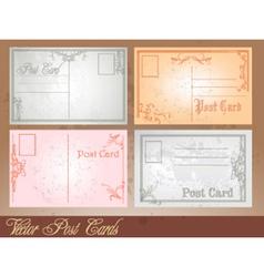 Postcard set vector image
