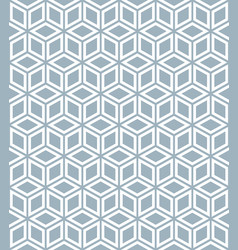 seamless white cubes isometric background pattern vector image vector image
