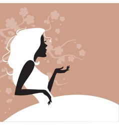 a young elegant bride vector image