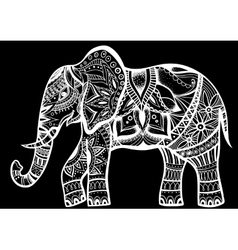 Abstract Indian ornamental elephant on a vector image vector image