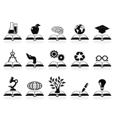 books concept icons set vector image vector image