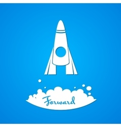 Moving forward logo vector image vector image