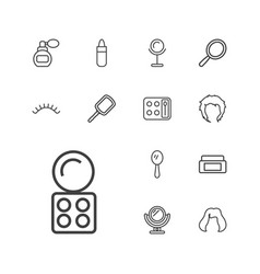 13 makeup icons vector
