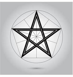 abstract minimal black and white star for design vector image