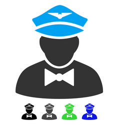 Airline steward flat icon vector