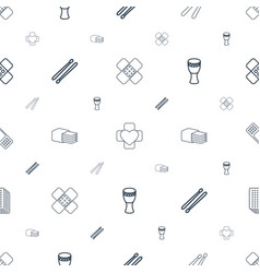 Band icons pattern seamless white background vector