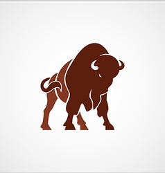 bison buffalo logo badge emblem sign isolated vector image