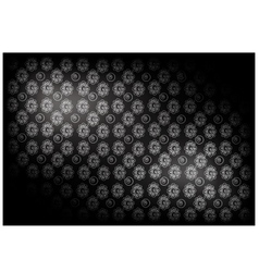 Black Vintage Wallpaper with Flower Pattern vector image