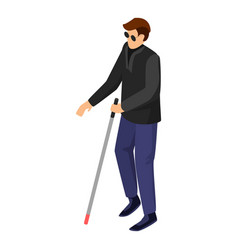 Blind man icon isometric style vector