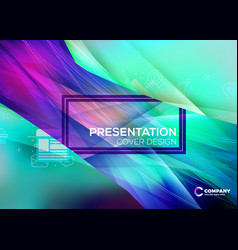 business layout template presentation cover vector image