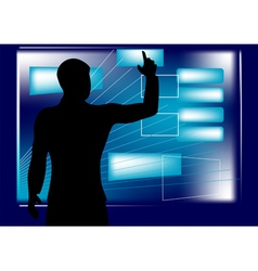 businessman and monitor vector image