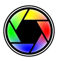 Camera shutter symbols vector