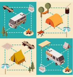 Camp isometric compositions vector