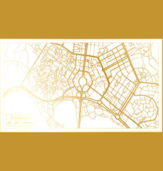 canberra australia city map in retro style in vector image