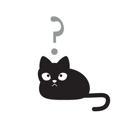 cat in confused state of mind vector image