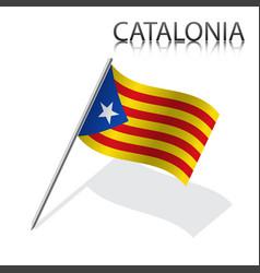 Catalan flag catalonia vector