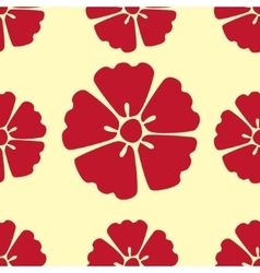 Cherry blossom flowers seamless pattern background vector