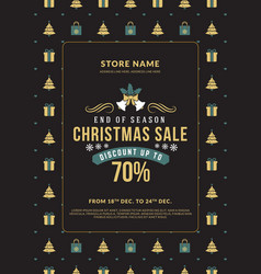 Christmas sale poster design holiday shopping vector