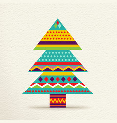 Christmas tree design in fun colors vector image