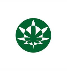 Circle cannabis logo modern vector