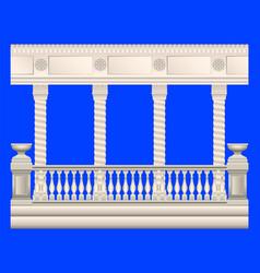columns stucco railings vector image